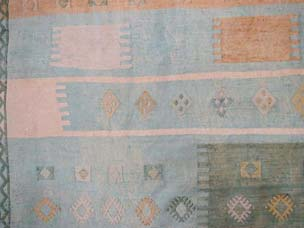 Silk Moroccan embroidered kilim 290 x 184cm