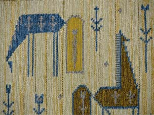 Swedish tapestry rug 97 x 84cm