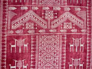 Moroccan embroidered kilim 195 x 101cm