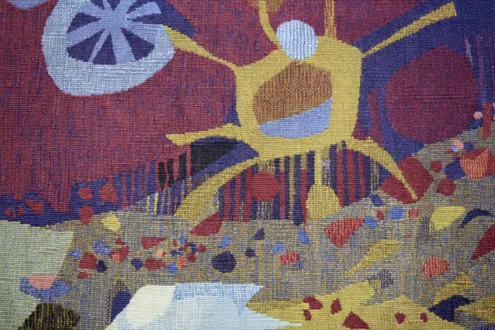 French 1960s tapestry by Robert Wogensky