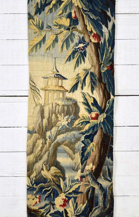 Aubusson tapestry panel 214 x 52cm