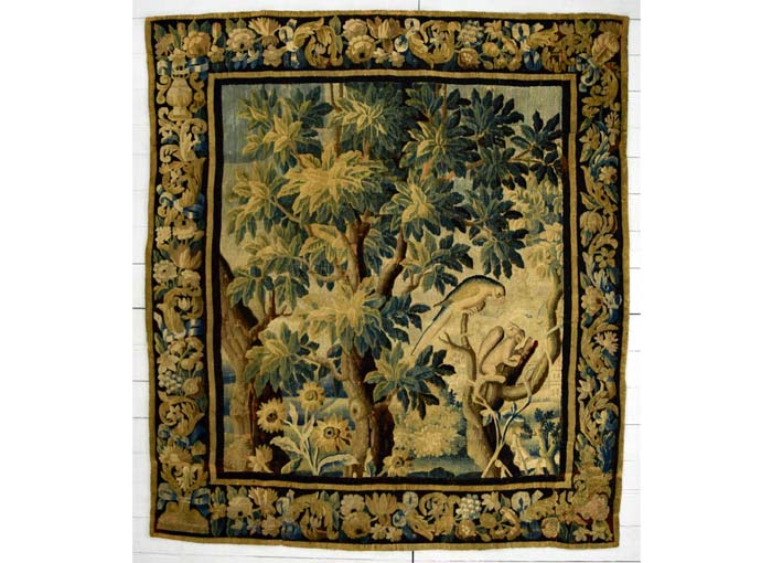 Aubusson Verdure tapestry 222 (height) x 195cm (width)